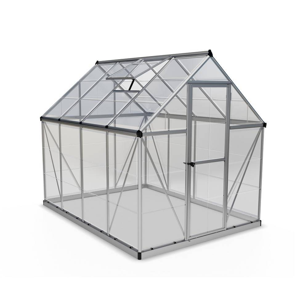 Palram Harmony 6 ft. x 8 ft. Polycarbonate Greenhouse in Silver