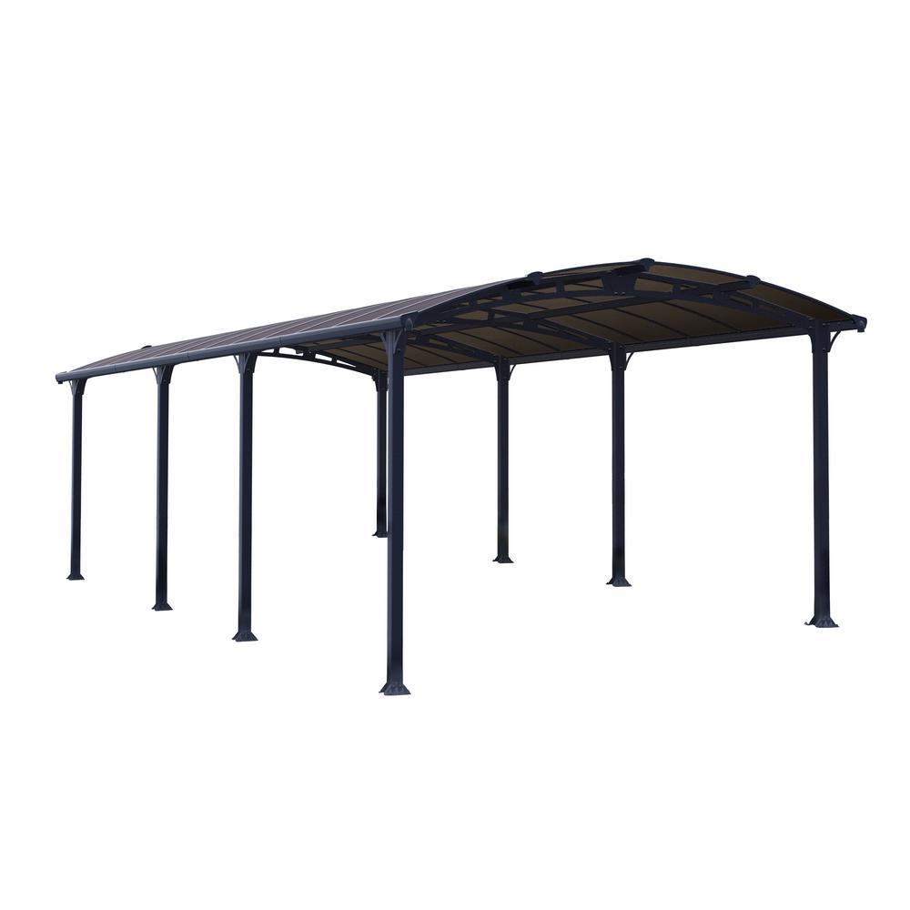 Palram Arcadia 8500 12 ft. x 28 ft. Car Canopy and shelter Carport
