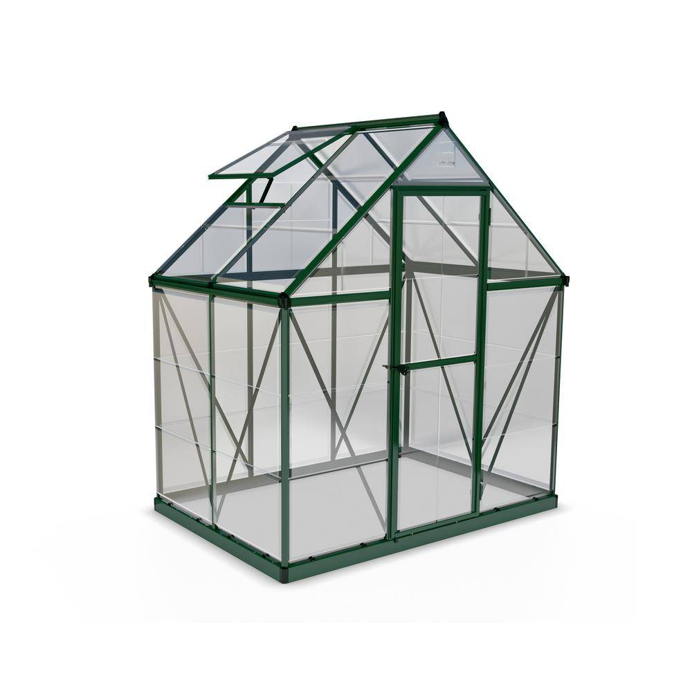 Palram Harmony 6 ft. x 4 ft. Polycarbonate Greenhouse in Green