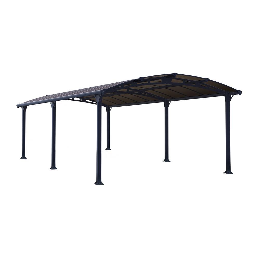 Palram Arcadia 6400 12 ft. x 21 ft. Car Canopy and shelter Carport
