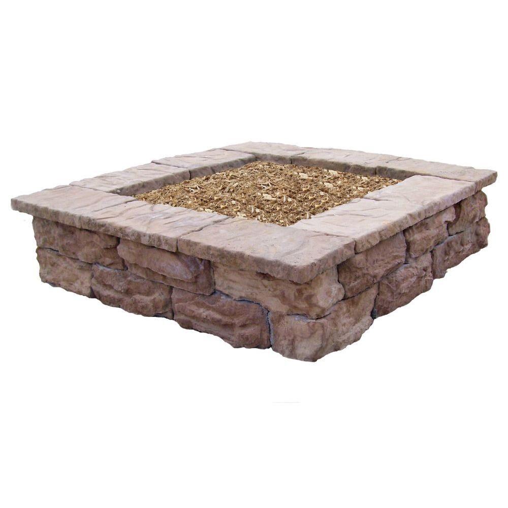 Natural Concrete Products Co Square Outdoor Decorative Planter, Brown
