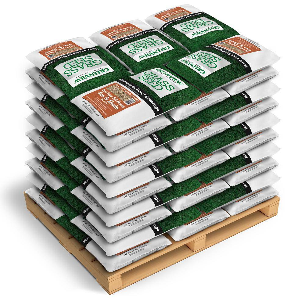 GreenView 20 lbs. Fairway Formula Grass Seed Turf Type Tall Fescue Blend (50-Bags/125,000 sq. ft./Pallet)