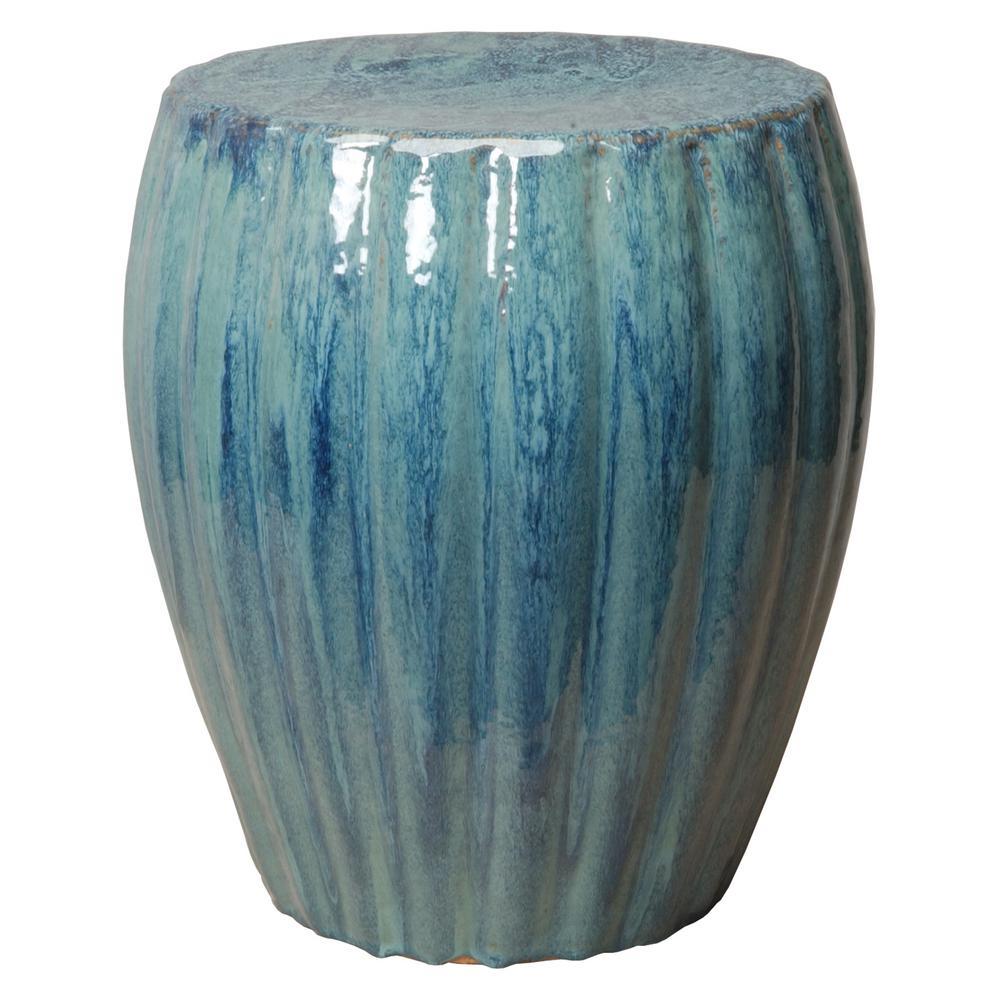 Emissary Ridge Turquoise Ceramic Indoor/Outdoor Garden Stool
