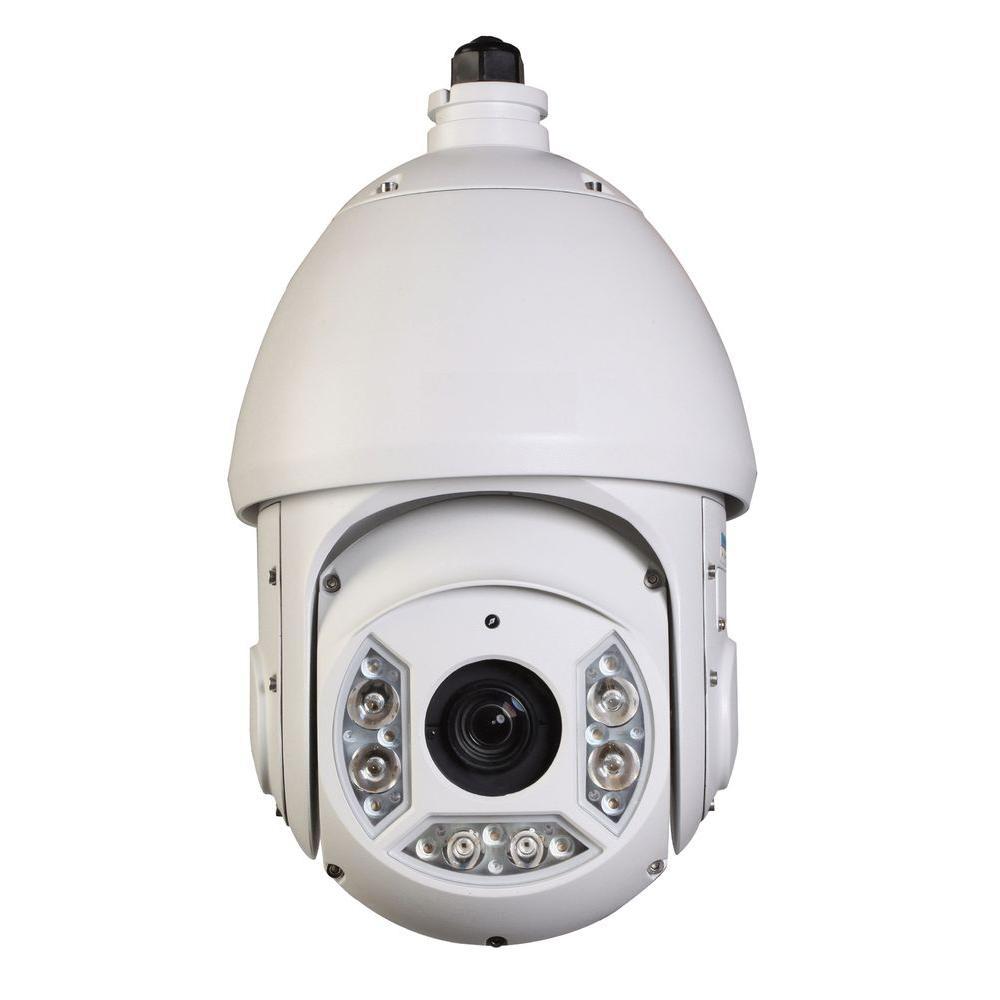 Dahua Wired 2-Megapixel Cost-Effective Network IR PTZ Indoor or Outdoor Dome Standard Surveillance Camera, White