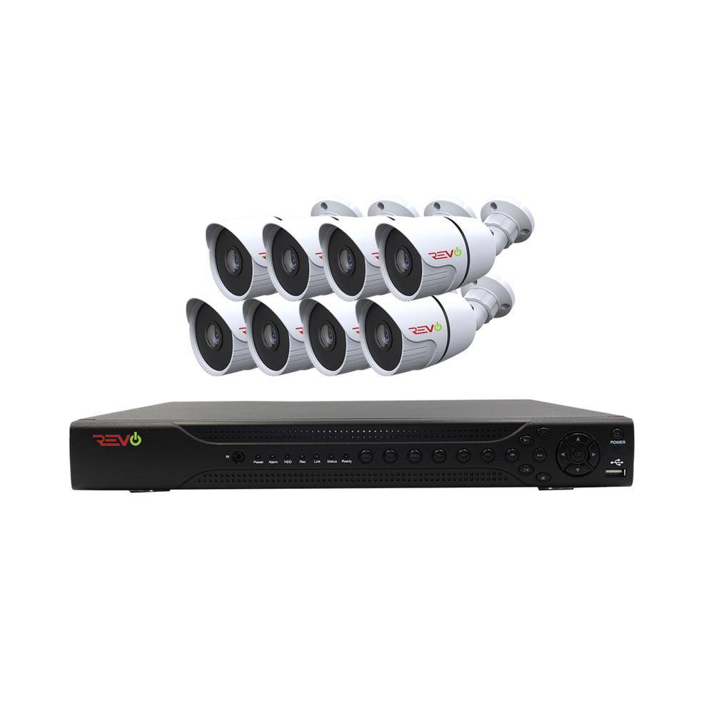 Revo Aero HD 1080p 16-Channel Video Security System with 8 Indoor/Outdoor Bullet Cameras