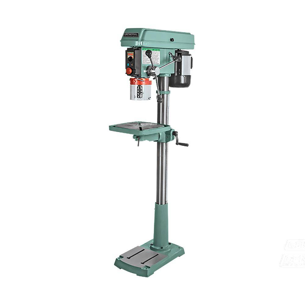 General International 17 in. 1HP Electronic Variable Speed (120 to 3200 RPM) Drill Press with Flip-up Chuck Guard and Integrated Laser Pointer