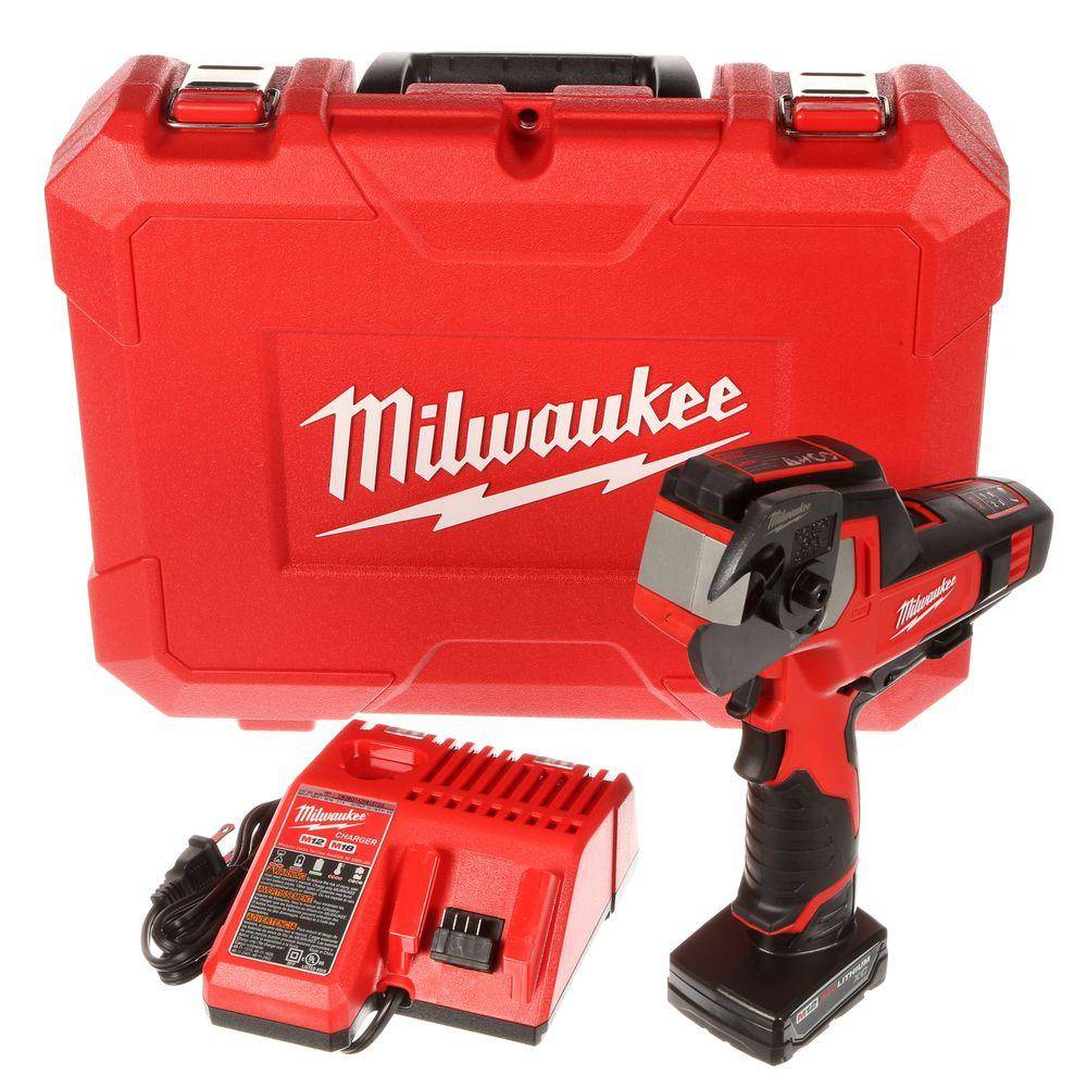Milwaukee M12 12-Volt Lithium-Ion Cordless 600 MCM Cable Cutter Kit with One 3.0Ah Battery, Charger and Hard Case