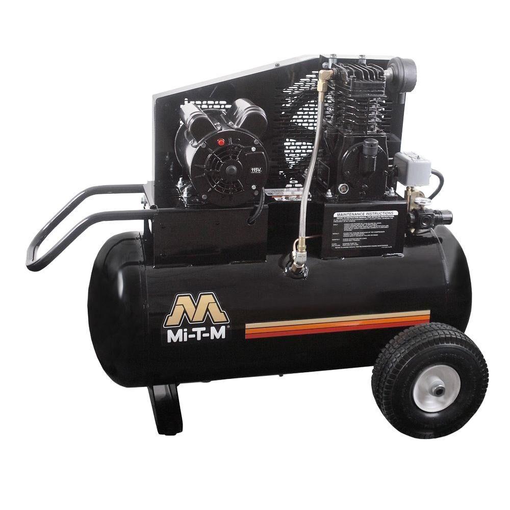 Mi-T-M 20 Gal. 6.5 CFM at 100 PSI 120-Volt 1.5 HP Electric Motor Portable Air Compressor