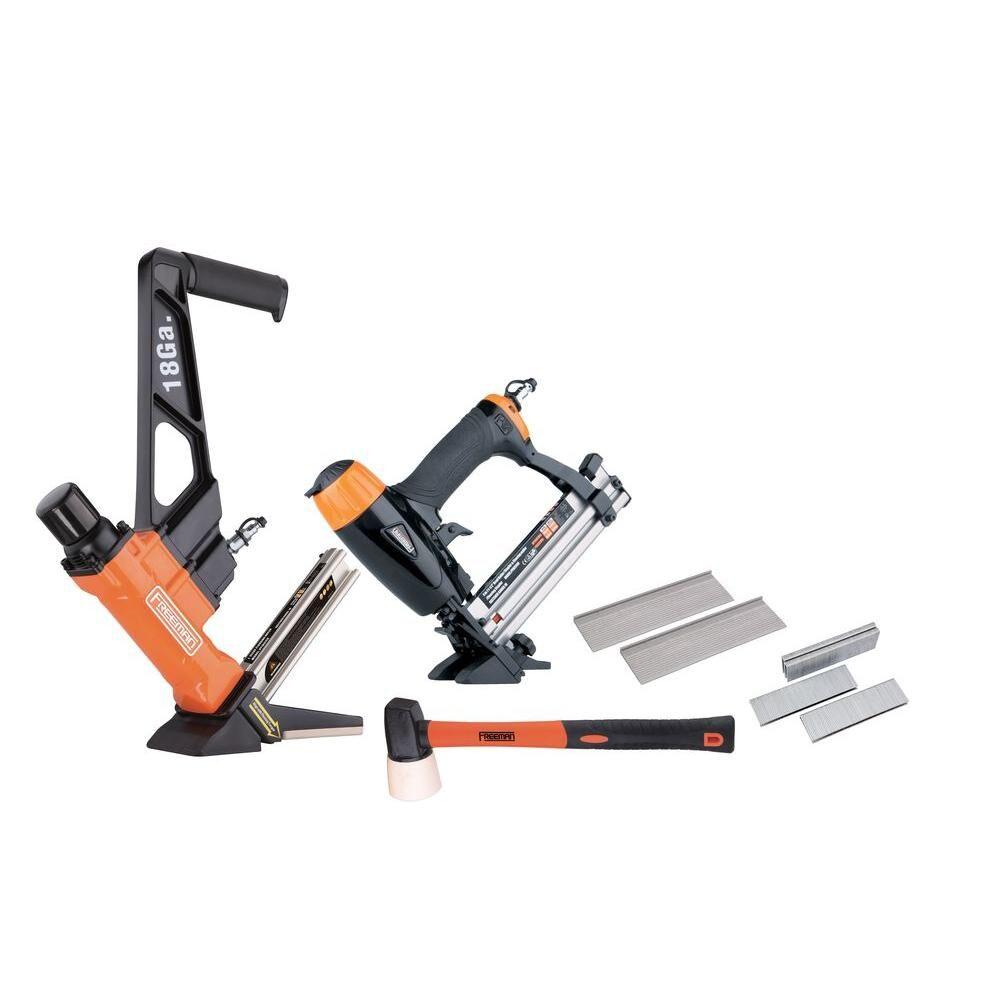 Freeman Professional Pneumatic Flooring Nailer Kit with Fasteners (2-Piece)