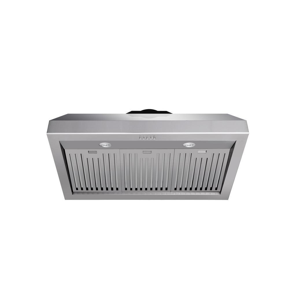 Thor Kitchen 36 in. Under Cabinet Range Hood in Stainless Steel, Silver