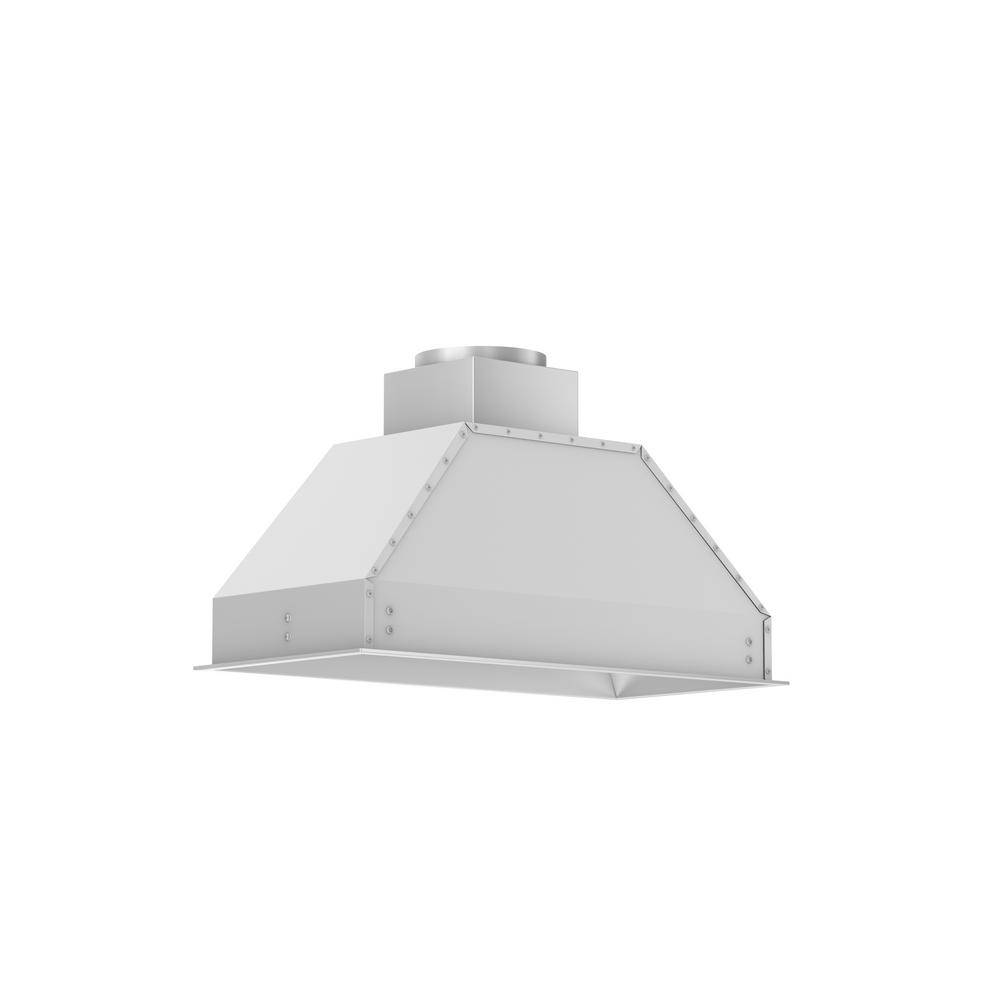 ZLINE Kitchen and Bath 34 in. Remote Blower Range Hood Insert in Stainless Steel, Brushed 430 Stainless Steel