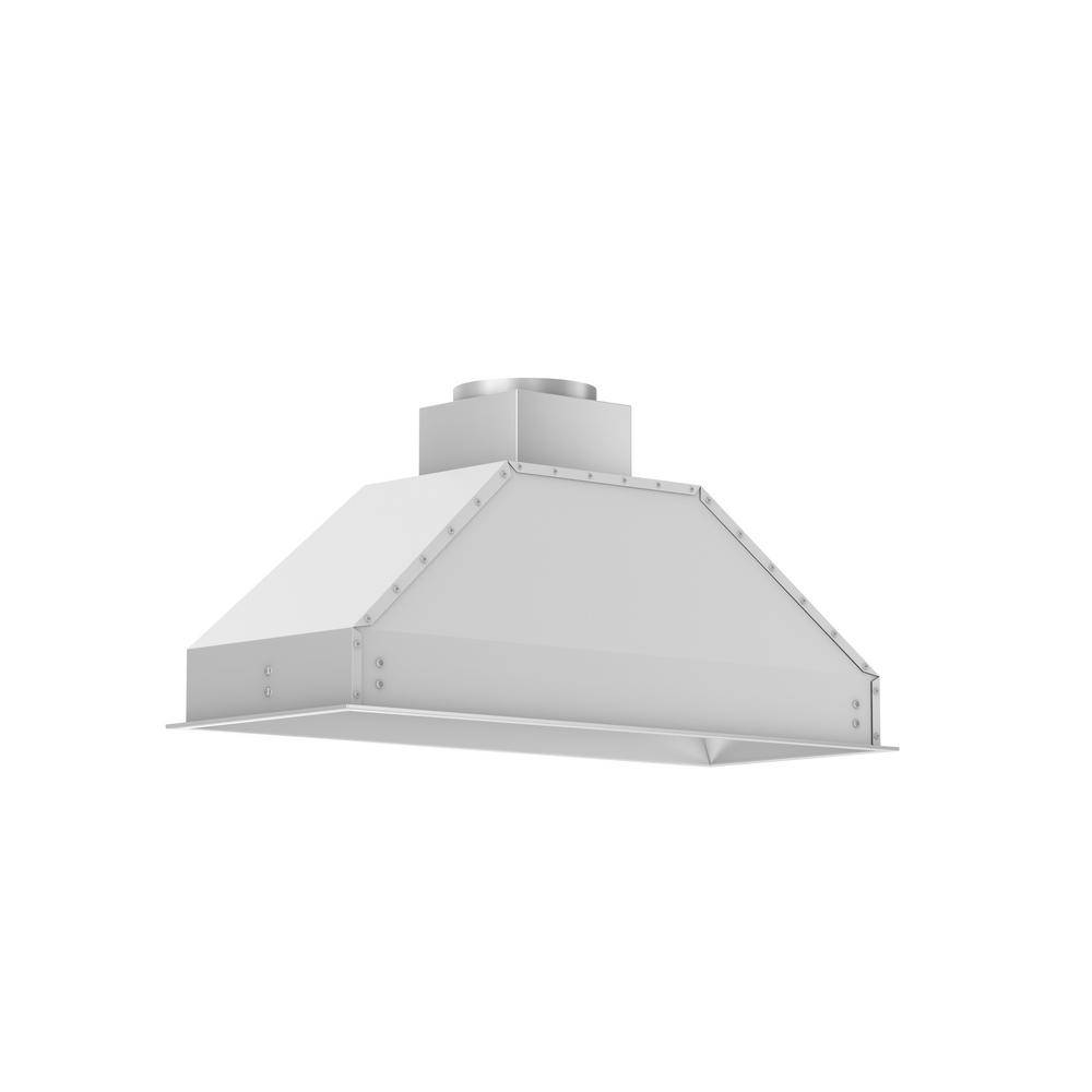 ZLINE Kitchen and Bath 40 in. Remote Blower Range Hood Insert in Stainless Steel, Brushed 430 Stainless Steel