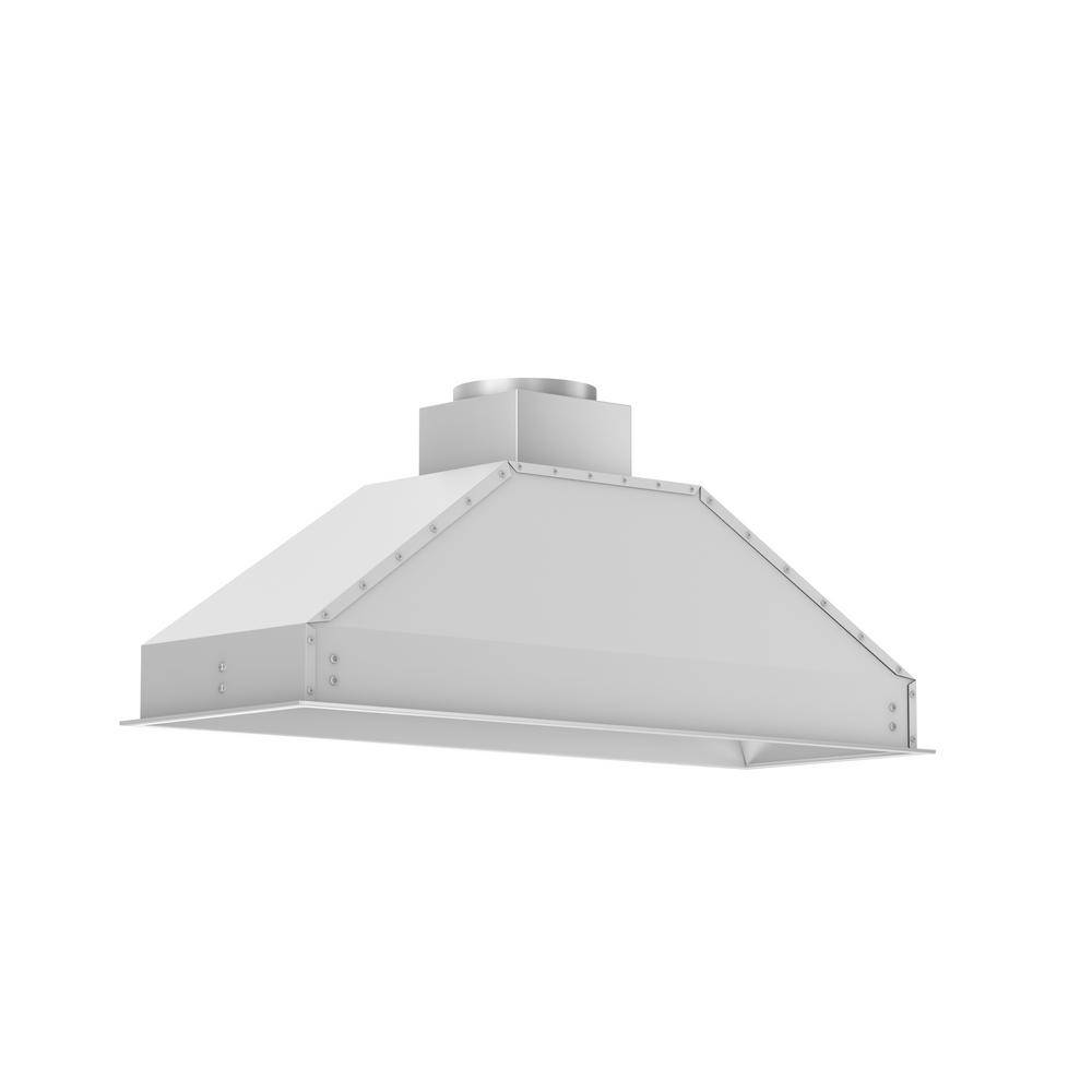 ZLINE Kitchen and Bath 46 in. Remote Blower Range Hood Insert in Stainless Steel, Brushed 430 Stainless Steel