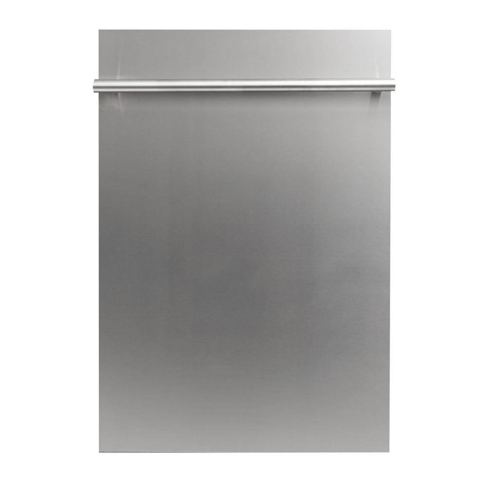 ZLINE Kitchen and Bath 18 in. Top Control Dishwasher in Stainless Steel with Stainless Steel Tub and Modern Style Handle, ENERGY STAR, Custom Panel Ready with Stainless Steel Tub
