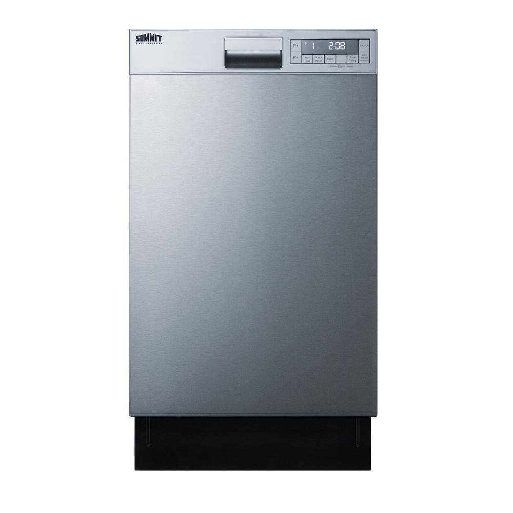 Summit Appliance 18 in. Top Control Dishwasher in Stainless Steel, ADA Compliant, Silver