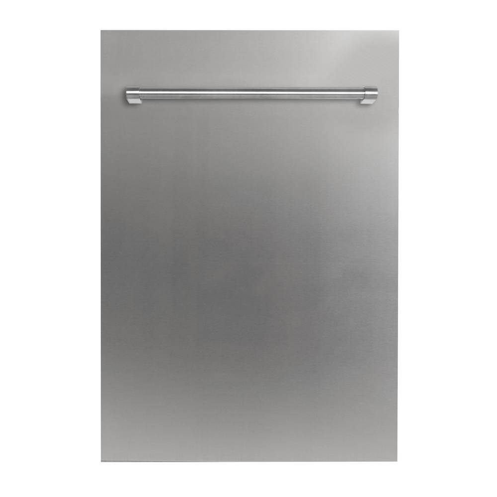 ZLINE Kitchen and Bath 18 in. Top Control Dishwasher in Stainless Steel with Stainless Steel Tub and Traditional Style Handle, ENERGY STAR