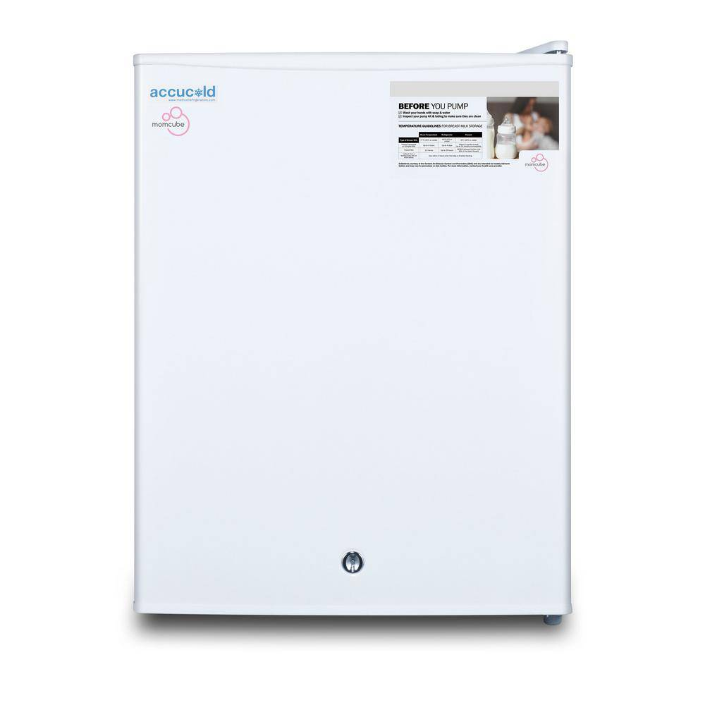 Summit Appliance MOMCUBE 1.8 cu. ft. Breast Milk Upright Freezer in White