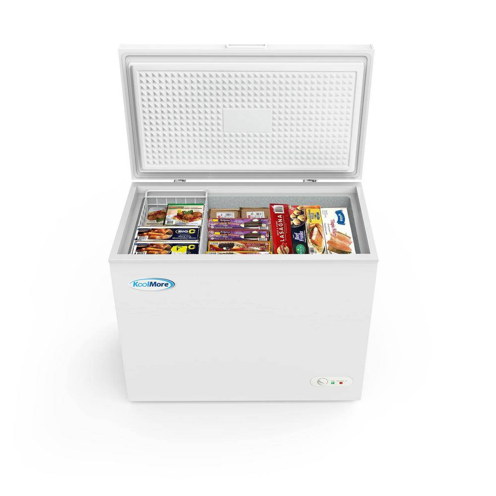 Koolmore 7 cu. ft. Manual Defrost Commercial Chest Freezer in White