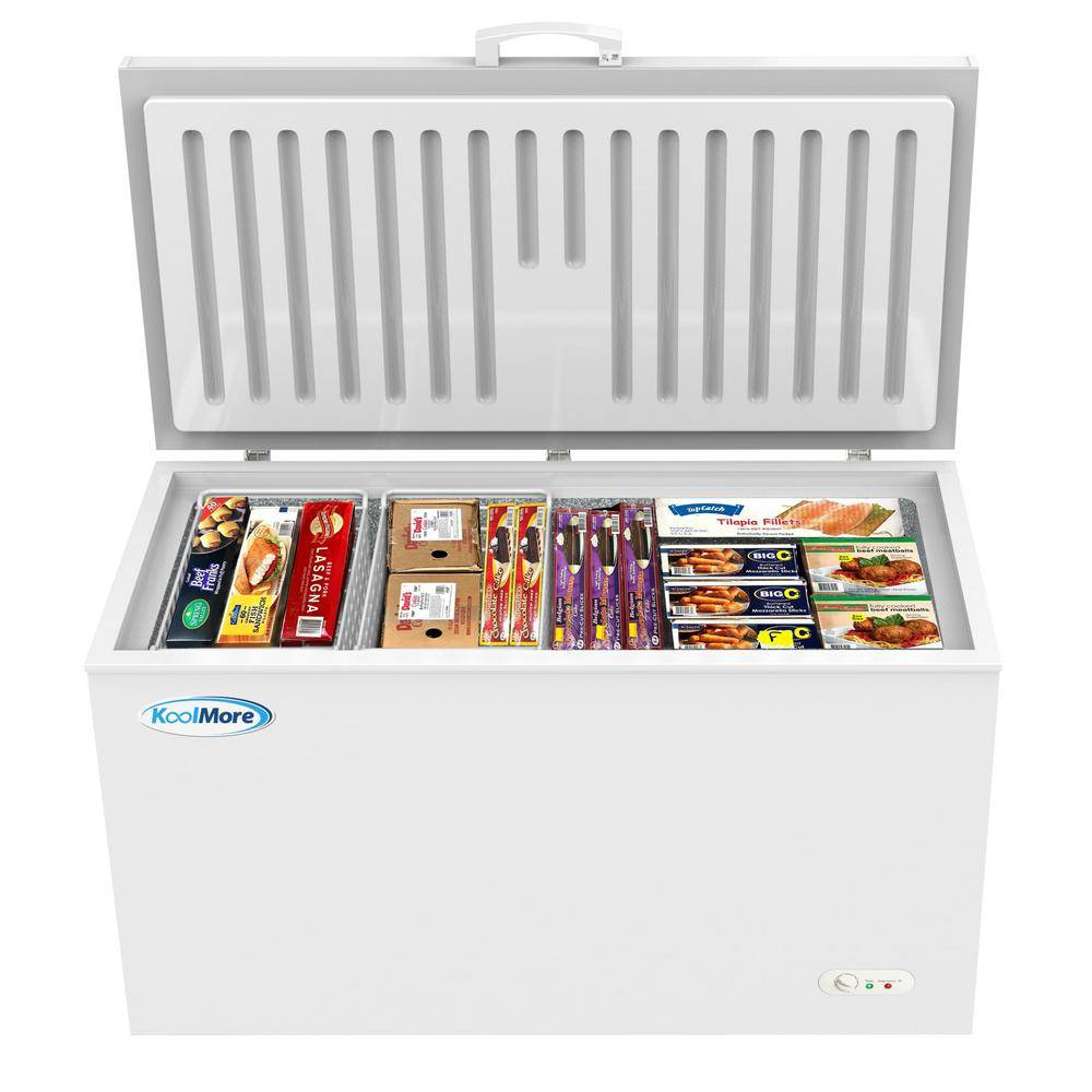 Koolmore 16 cu. ft. Manual Defrost Commercial Chest Freezer in White