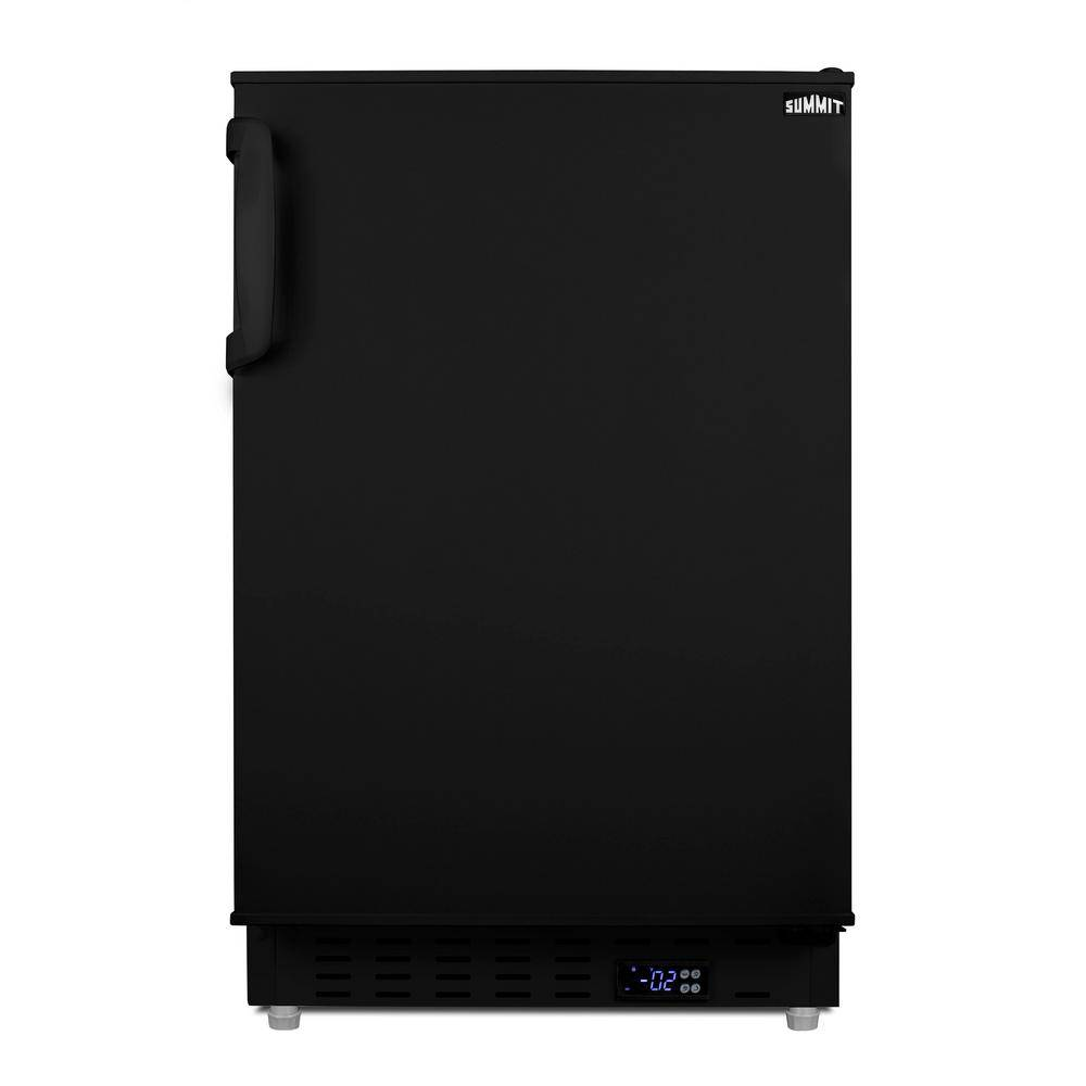 Summit Appliance 2.68 cu. ft. Manual Defrost Upright Freezer in Black, ADA Compliant