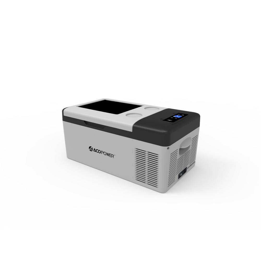 LiONCooler 17 Qt. Battery Powered Chest Fridge Freezer Cooler w/10 Plus Hour Run Time, Recharge Using DC/AC Power - 2018 Model, Gray/Black