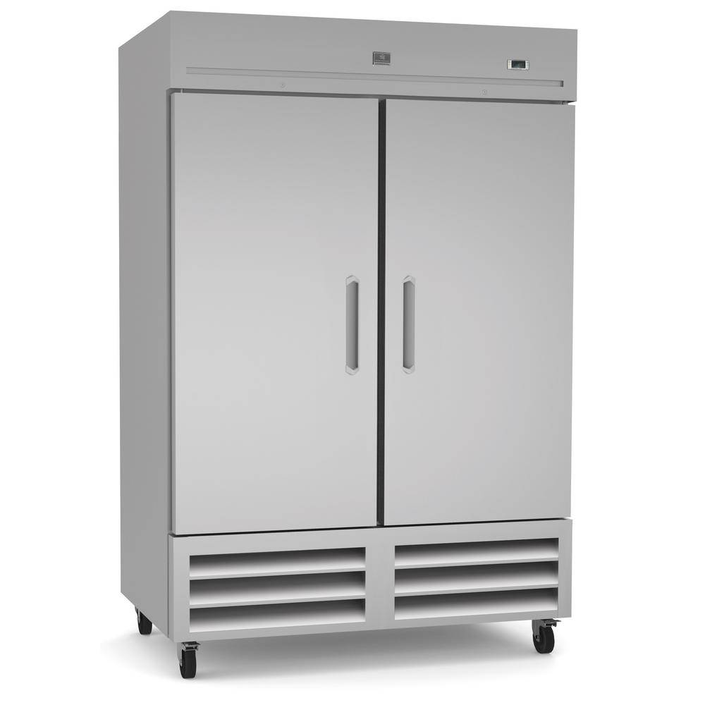 Kelvinator 49 Cu. Ft. Commercial Upright Reach-In Freezer Stainless steel, Silver