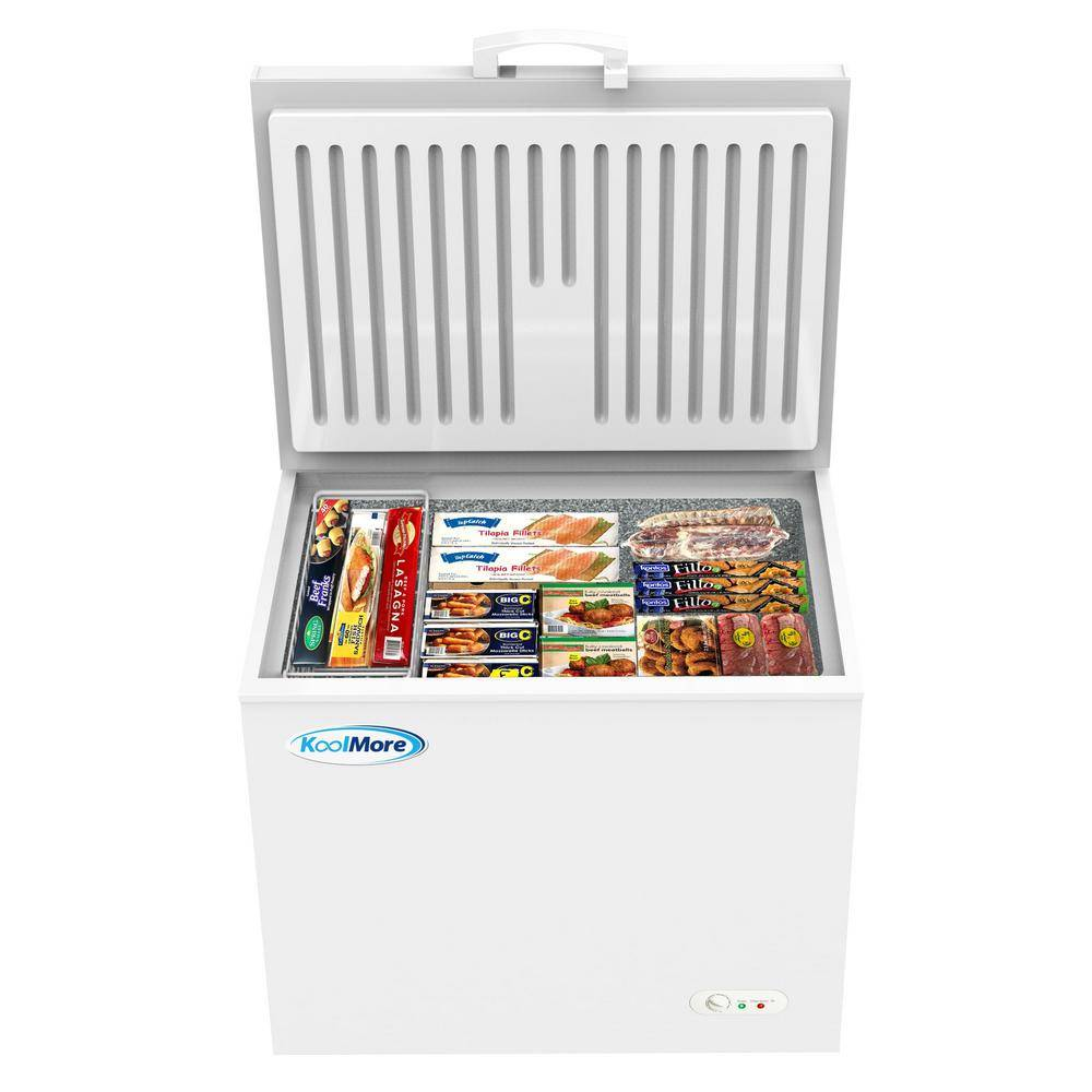 Koolmore 10 cu. ft. Manual Defrost Commercial Chest Freezer in White