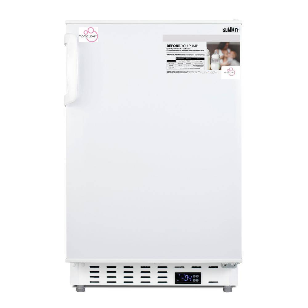 Summit Appliance 2.68 cu. ft. Manual Defrost Upright MOMCUBE Breast Milk Freezer in White, ADA Compliant