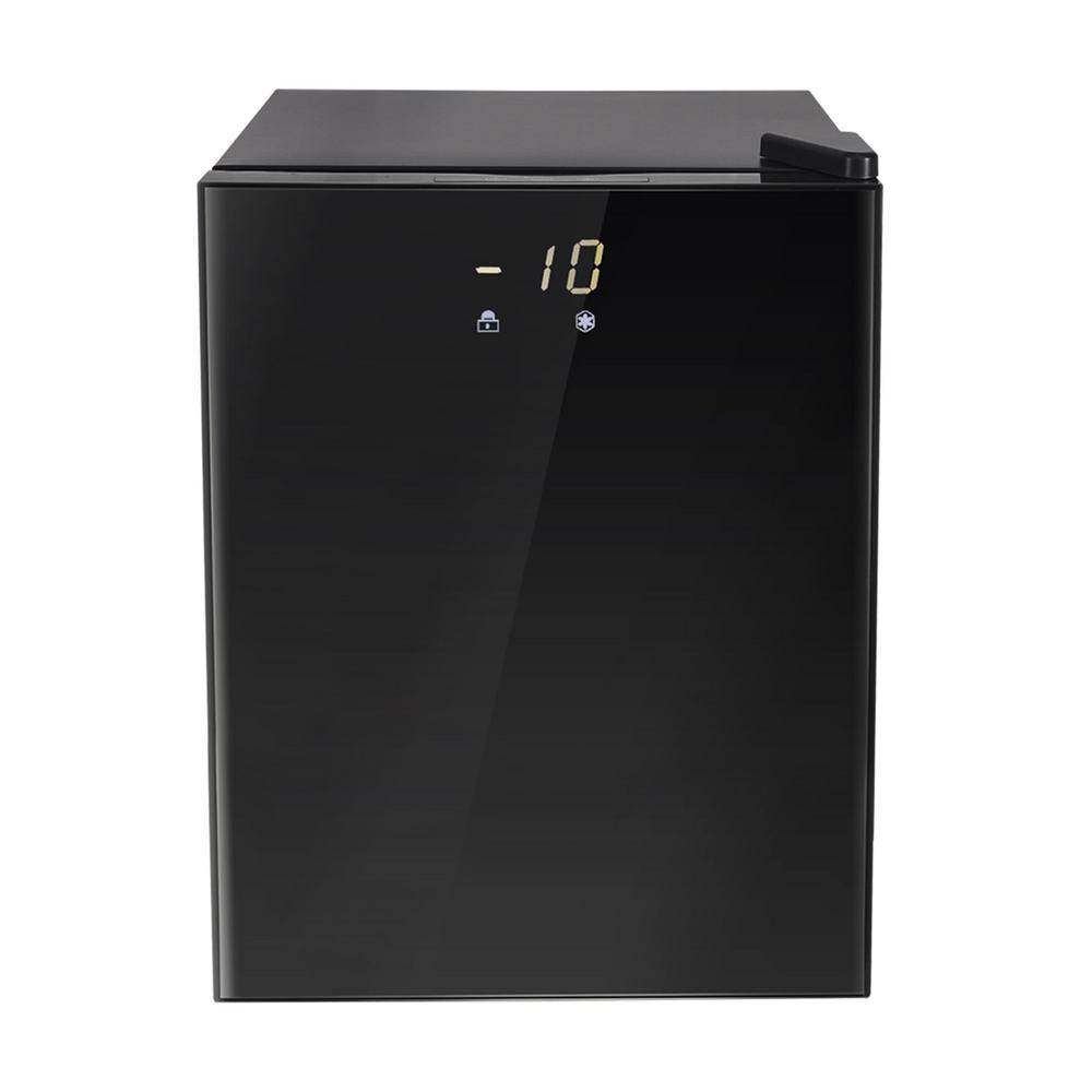 matrix decor 2.1 cu. ft. Upright Freezer with Reversible Adjustable Door in Stainless Steel, Black