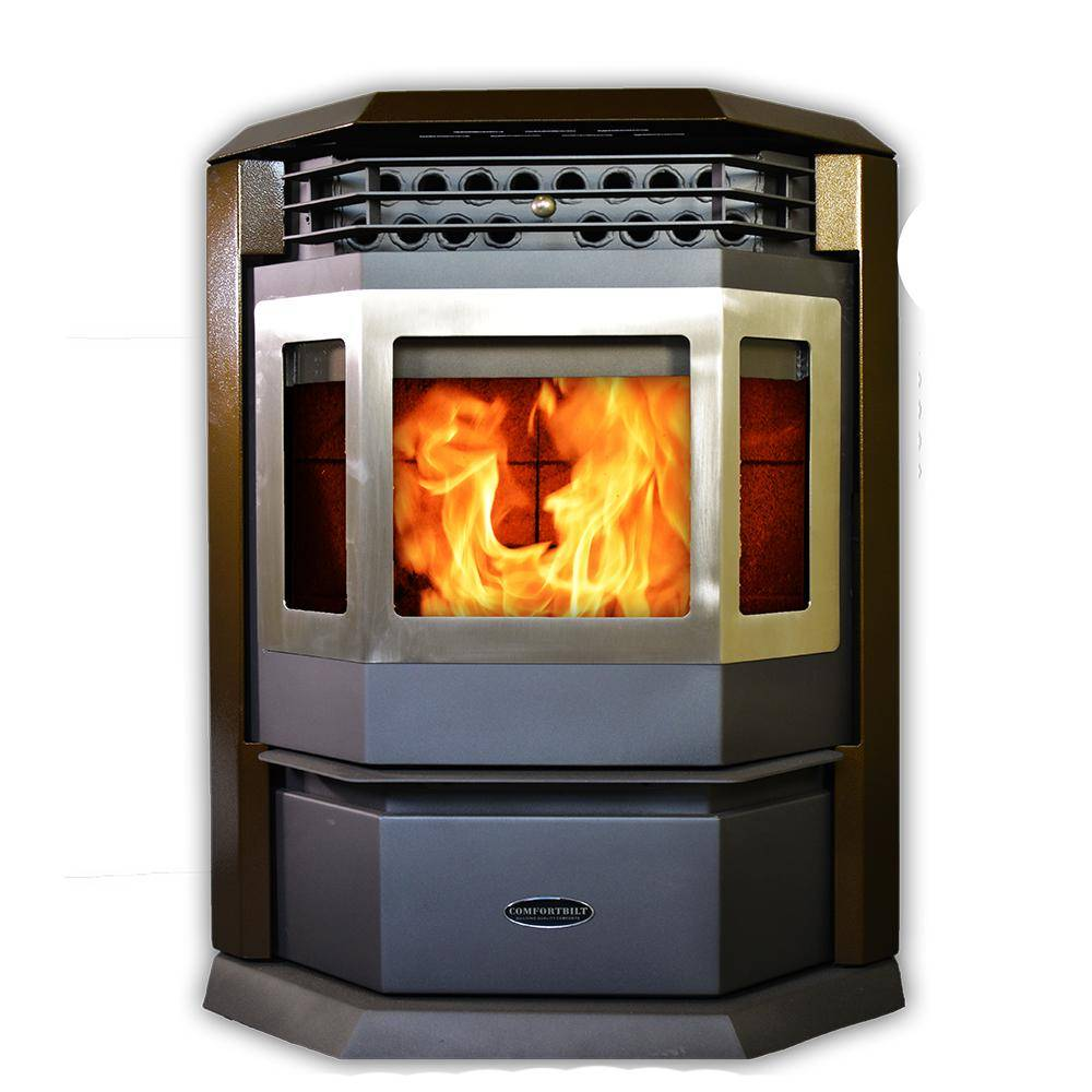 ComfortBilt HP22SS Pellet Stove 2800 sq ft EPA Certified in Brown and SS Trim