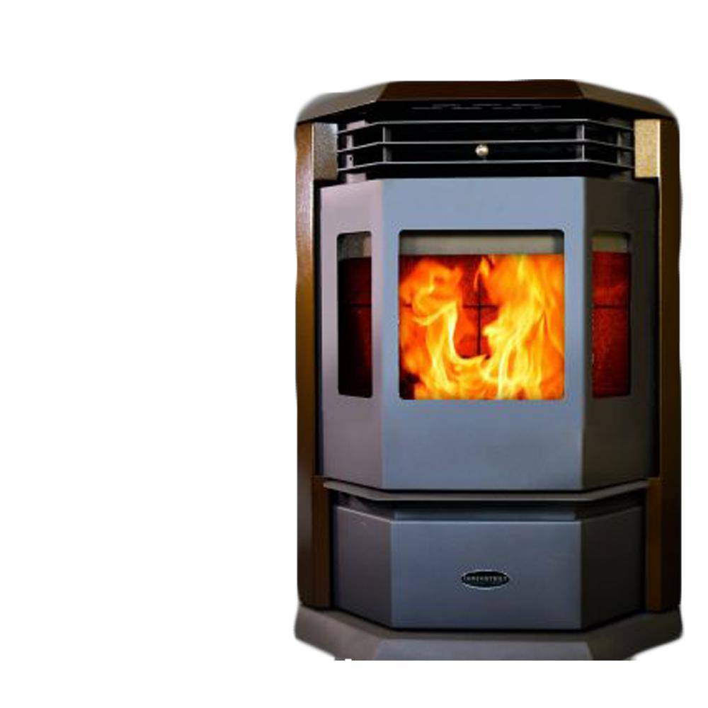 ComfortBilt 2,800 sq. ft. EPA Certified Pellet Stove with 55 lbs. Hopper and Auto Ignition in Brown