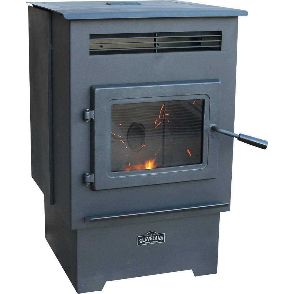 CLEVELAND IRON WORKS 1,200 sq. ft. Pellet Stove with 60 lbs. Hopper and Auto Igniter
