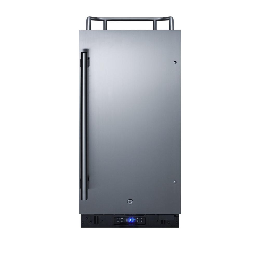 Summit Appliance Built-in 1/6 Kegerator Beer Dispenser, Silver