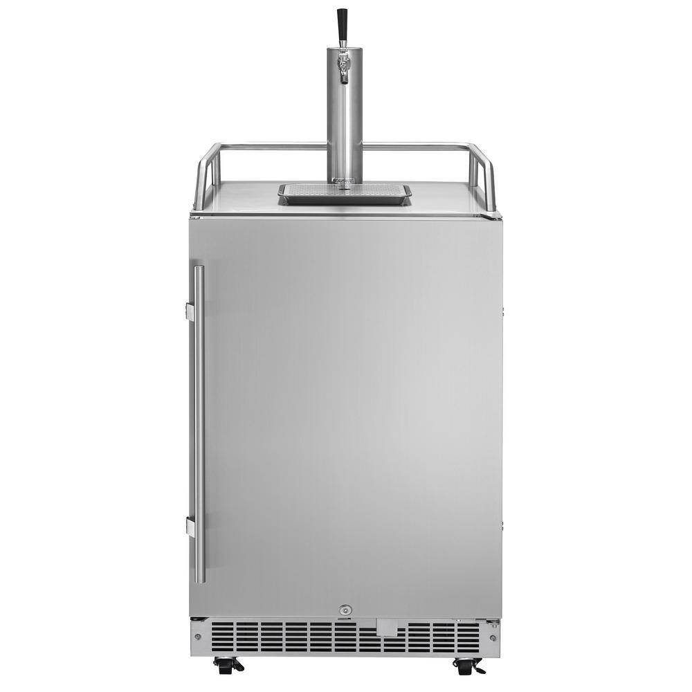 Silhouette Outdoor Full Size Beer Keg Dispenser with SingleTap, Silver