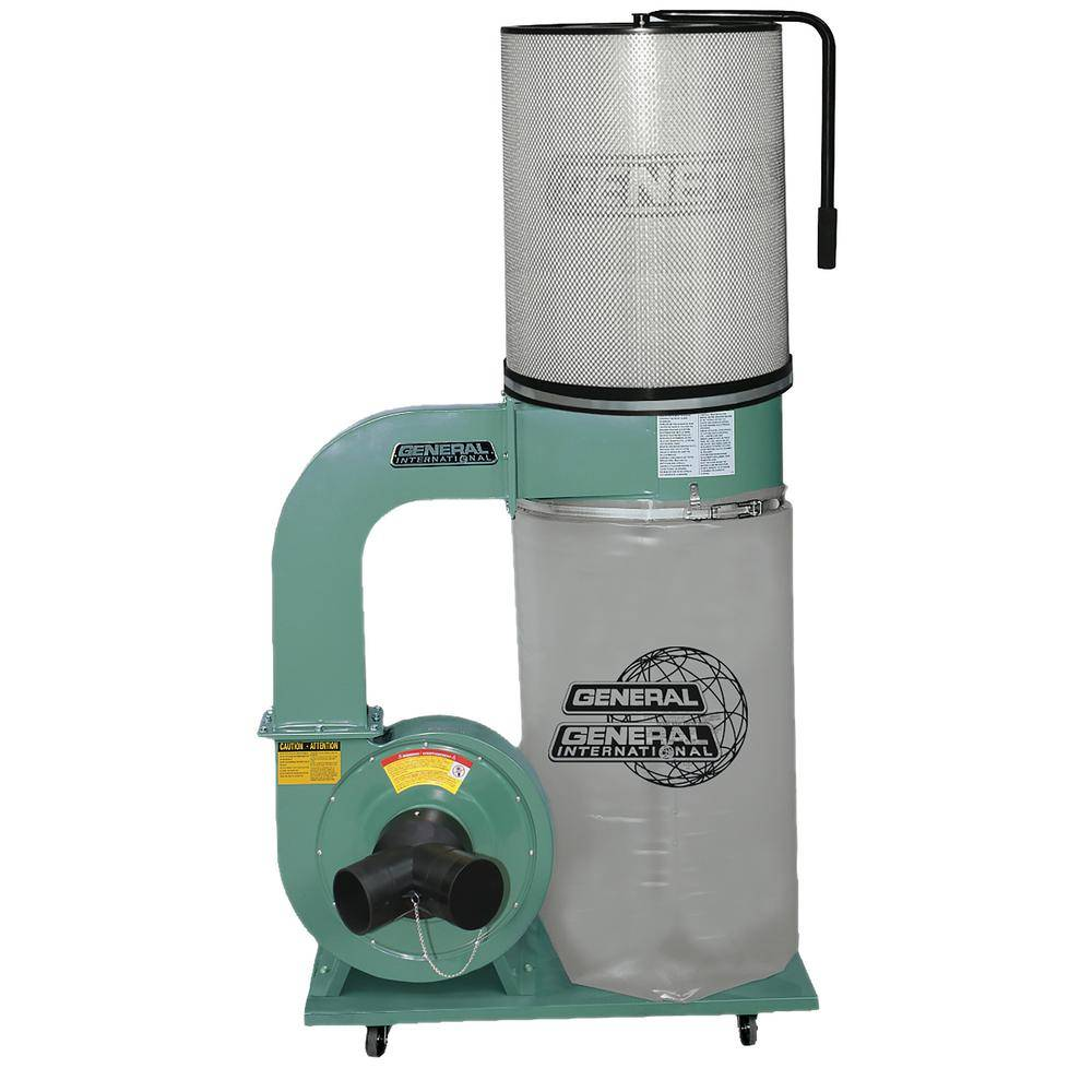 General International 1.5 HP Dust Collector with Canister Filter