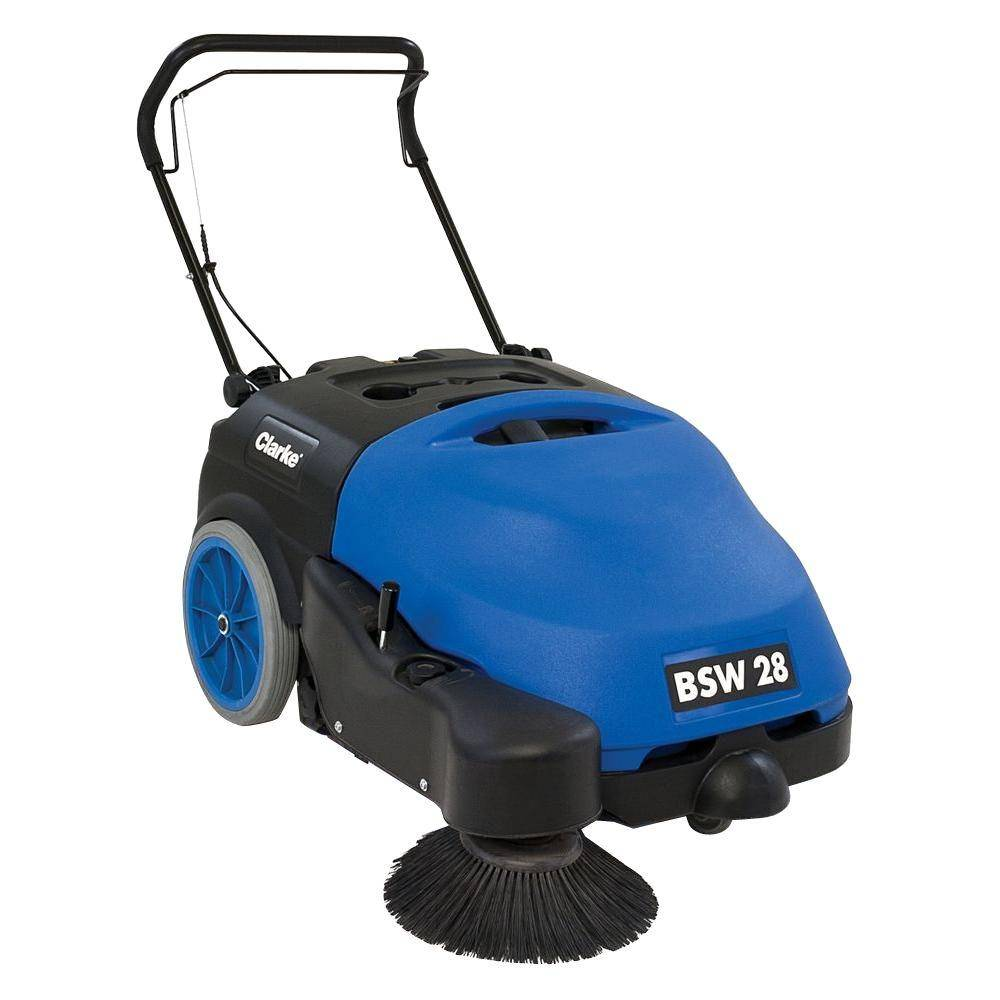 Clarke BSW 28 Commercial Battery Sweeper, Blue