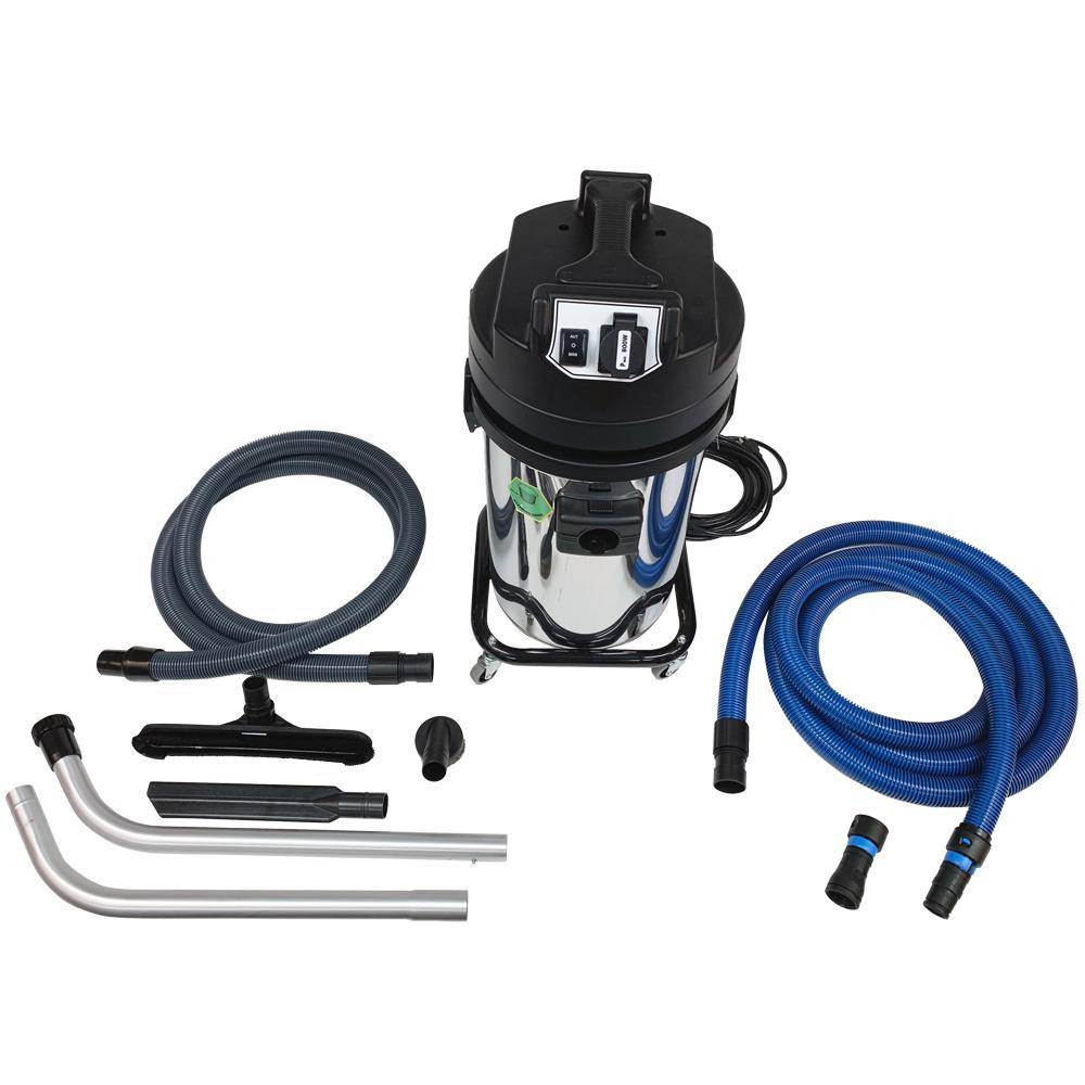Cen-Tec Aura Canister Vacuum with HEPA Filter and Remote Power Tool Controller and Adapter Set for Contractors