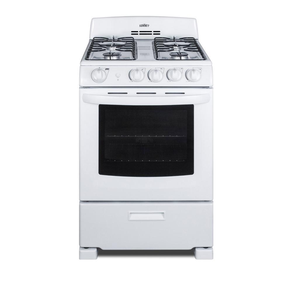 Summit Appliance 24 in. 2.9 cu. ft. Gas Range in White