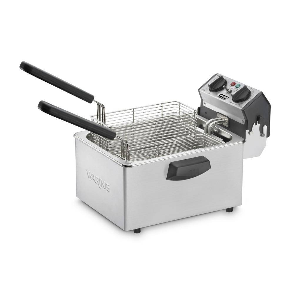 Waring Commercial 8.5 lb. 1800W Professional Deep Fryer with Dual Frying Baskets - 120V