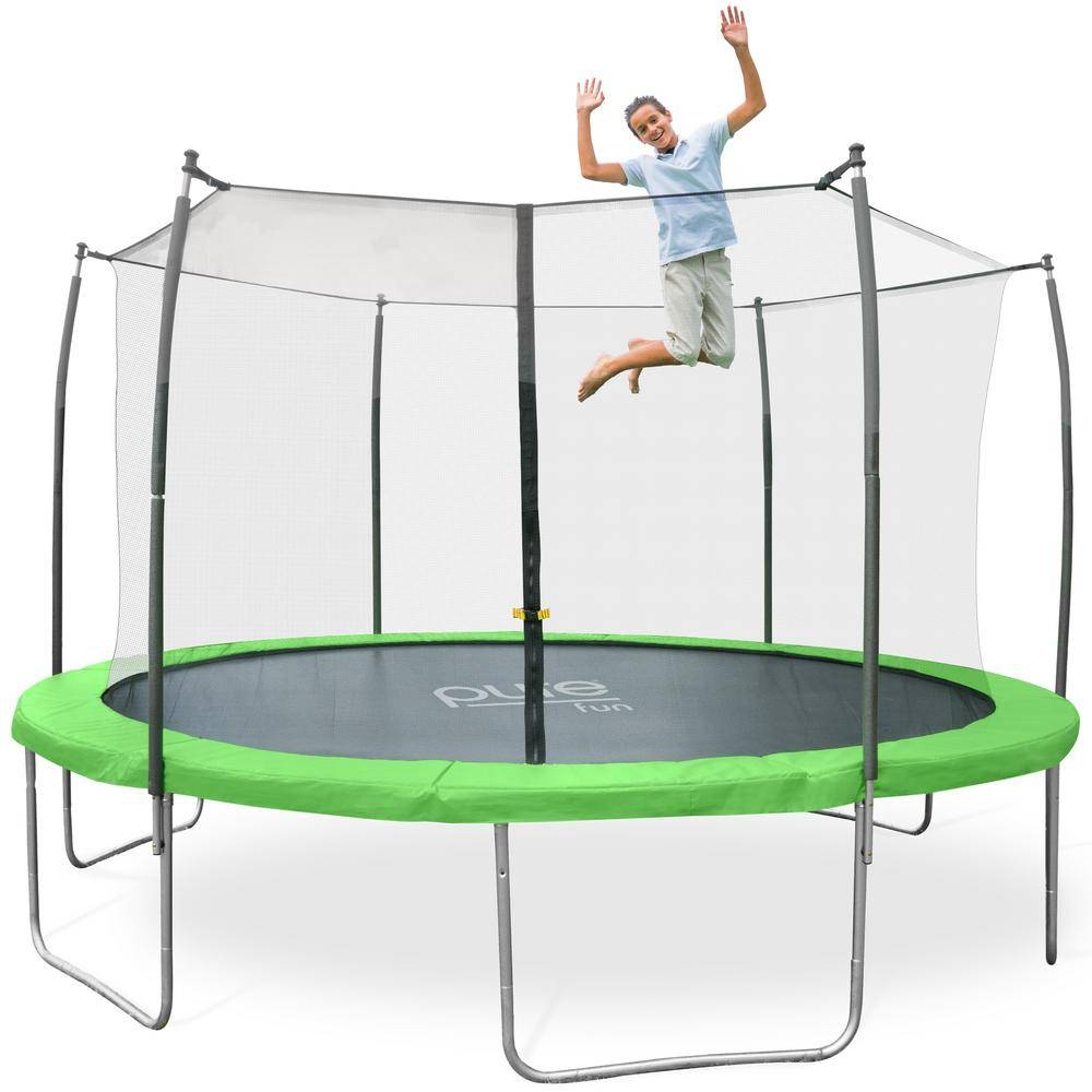 Pure Fun Dura-Bounce 14 ft. Trampoline and Enclosure Set