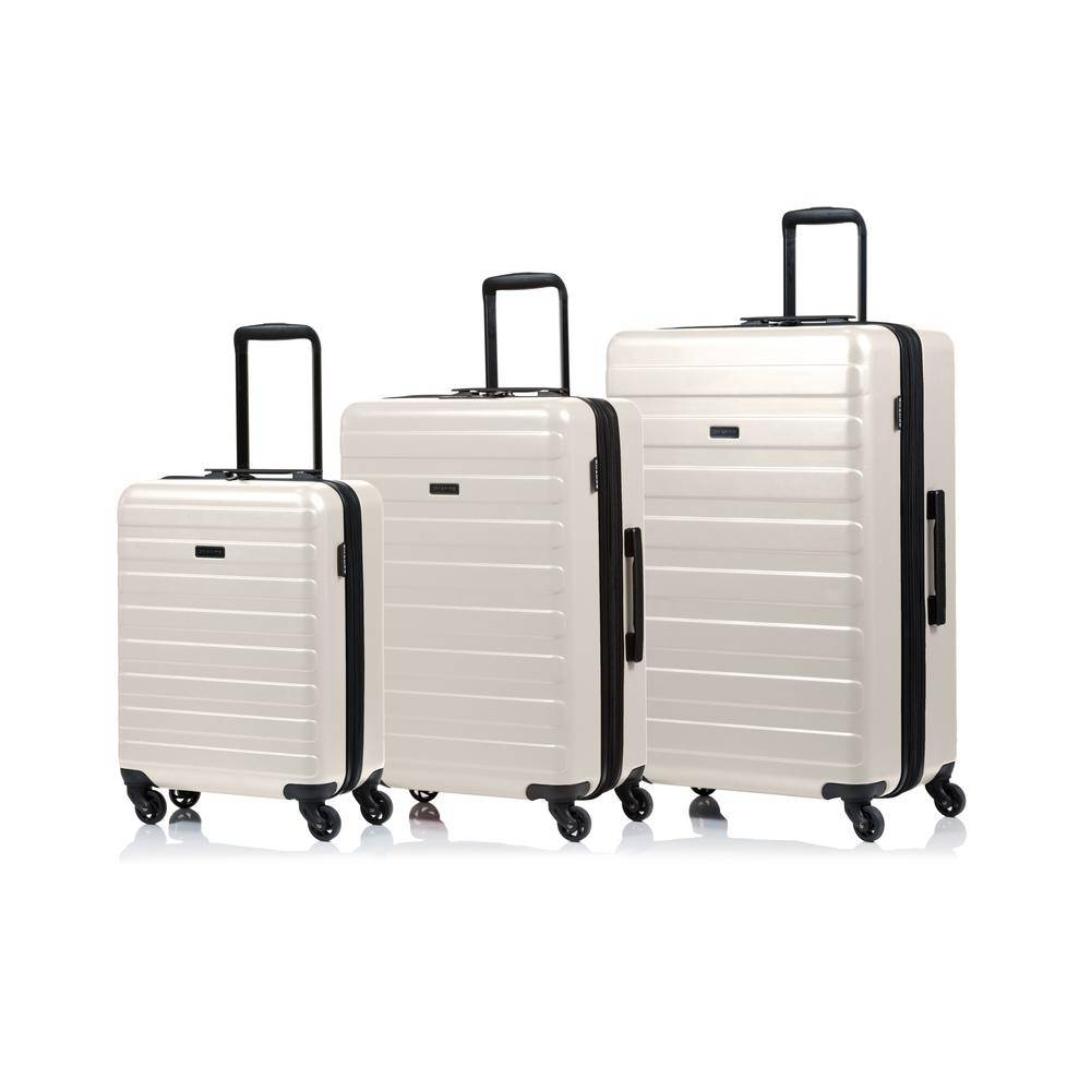 W.C CHAMPS CANADA 2000 I Fire 28 in., 24 in., 20 in. 3-Piece Taupe Hard Side Luggage Set with Spinner Wheels, Brown