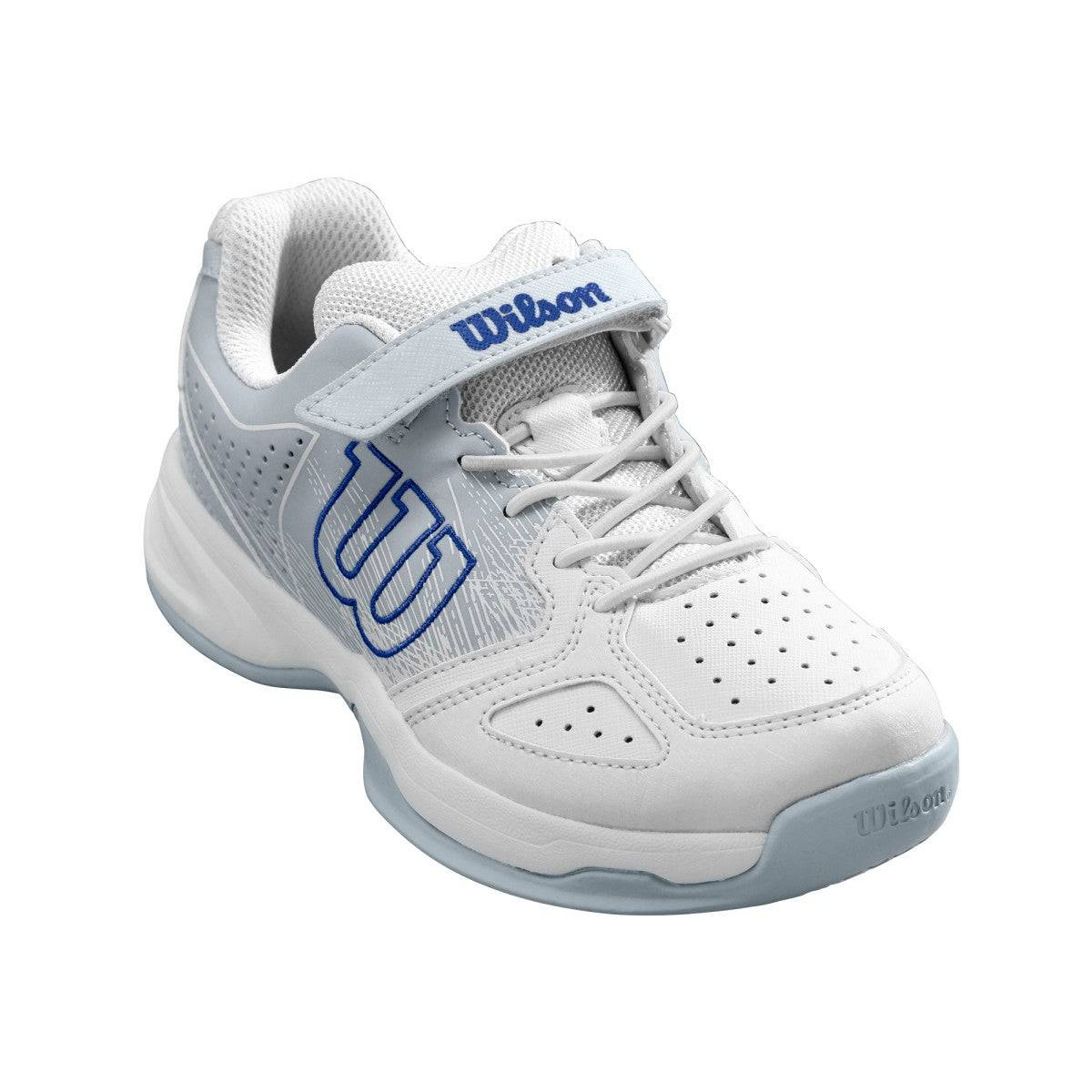 Wilson Junior Kaos K Tennis Shoes in White / Pearl Blue / Dazzling Blue - Size: 1.5 Y  - Unisex - White/Pearl Blue/Dazzling Blue - Size: 1.5 Y