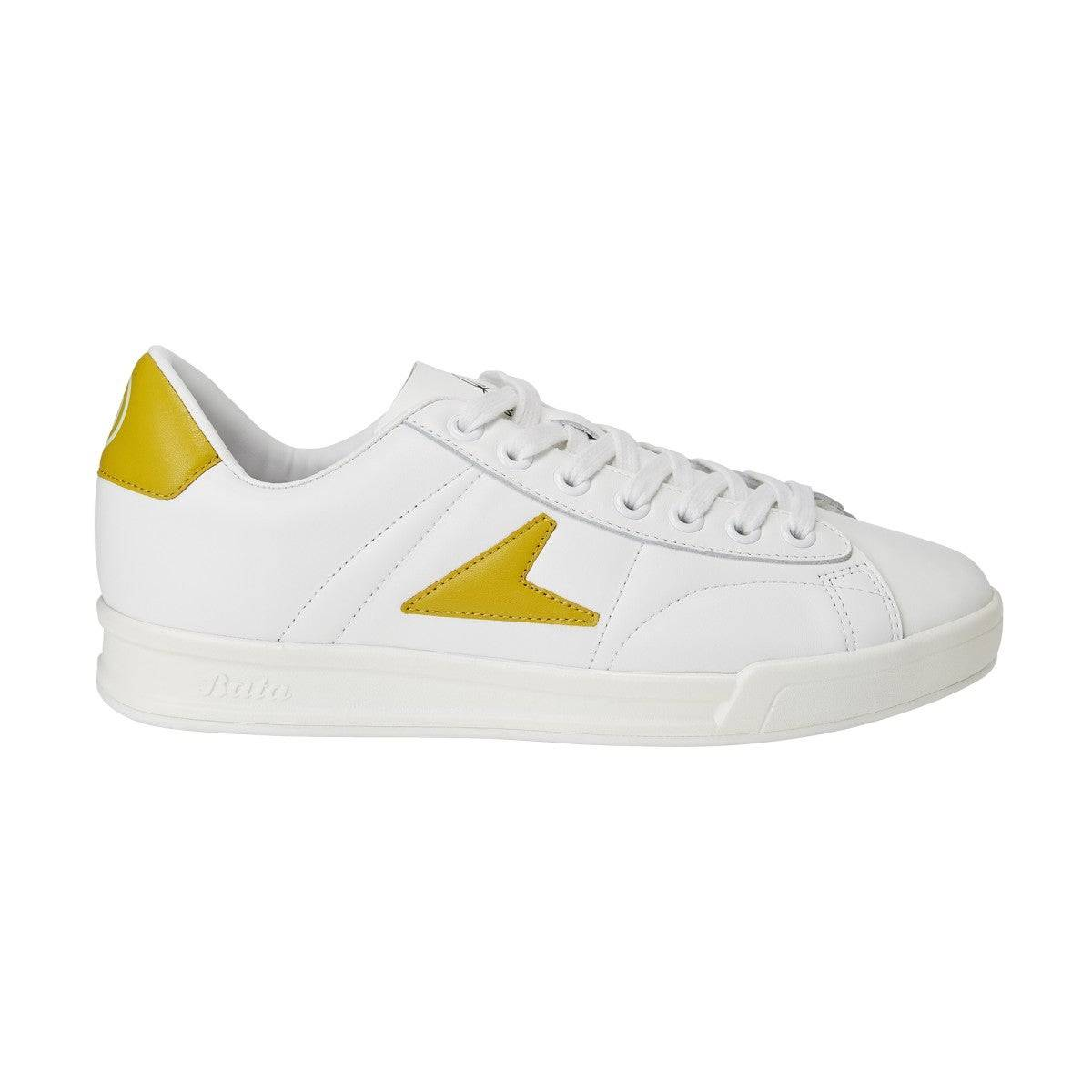 Wilson John Wooden Classic Low Top Shoes in White / Mustard Yellow - Size: 8 M  - Unisex - White/Mustard Yellow - Size: 8 M