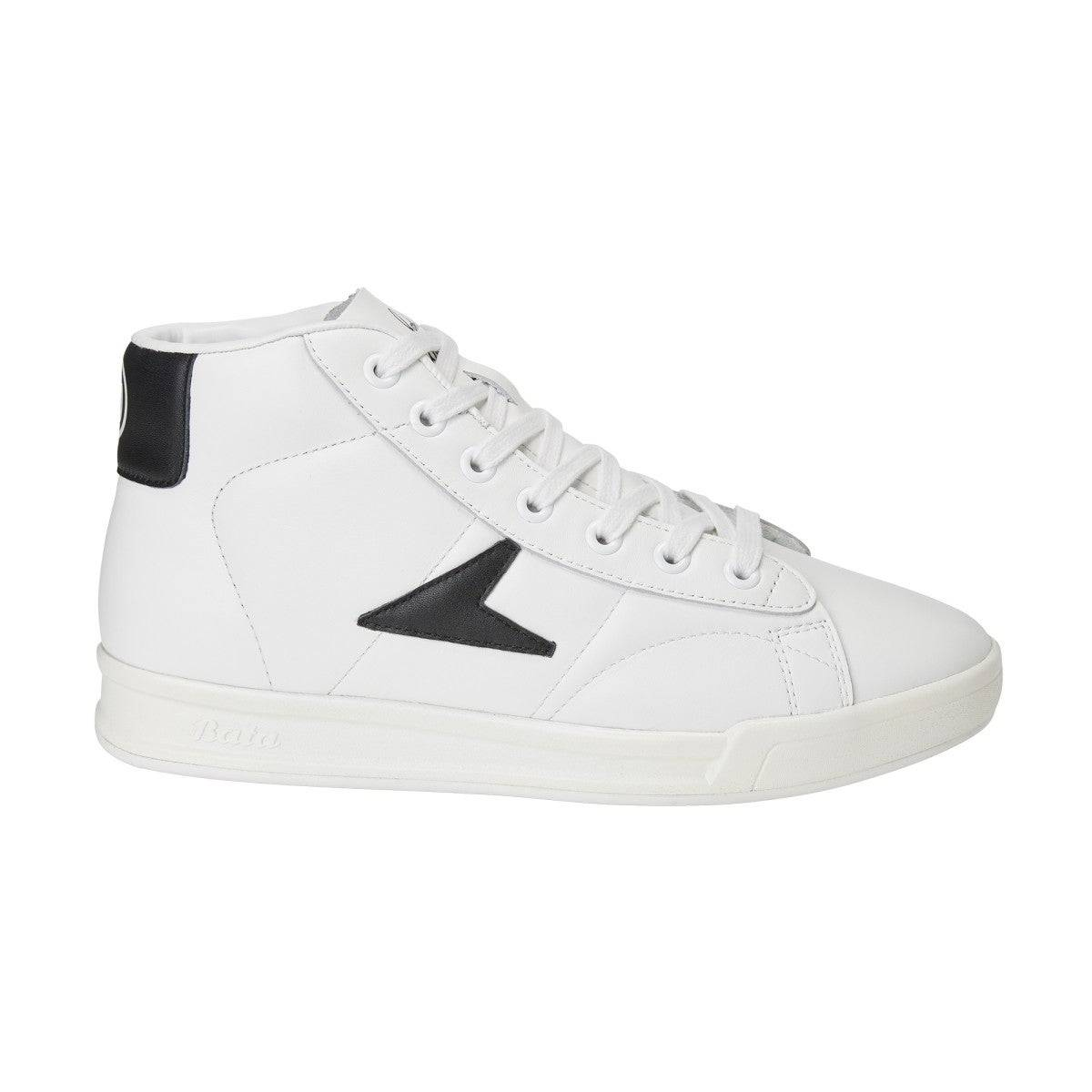 Wilson John Wooden Classic High Top Shoes in White / Black - Size: 5 M  - Unisex - White/Black - Size: 5 M