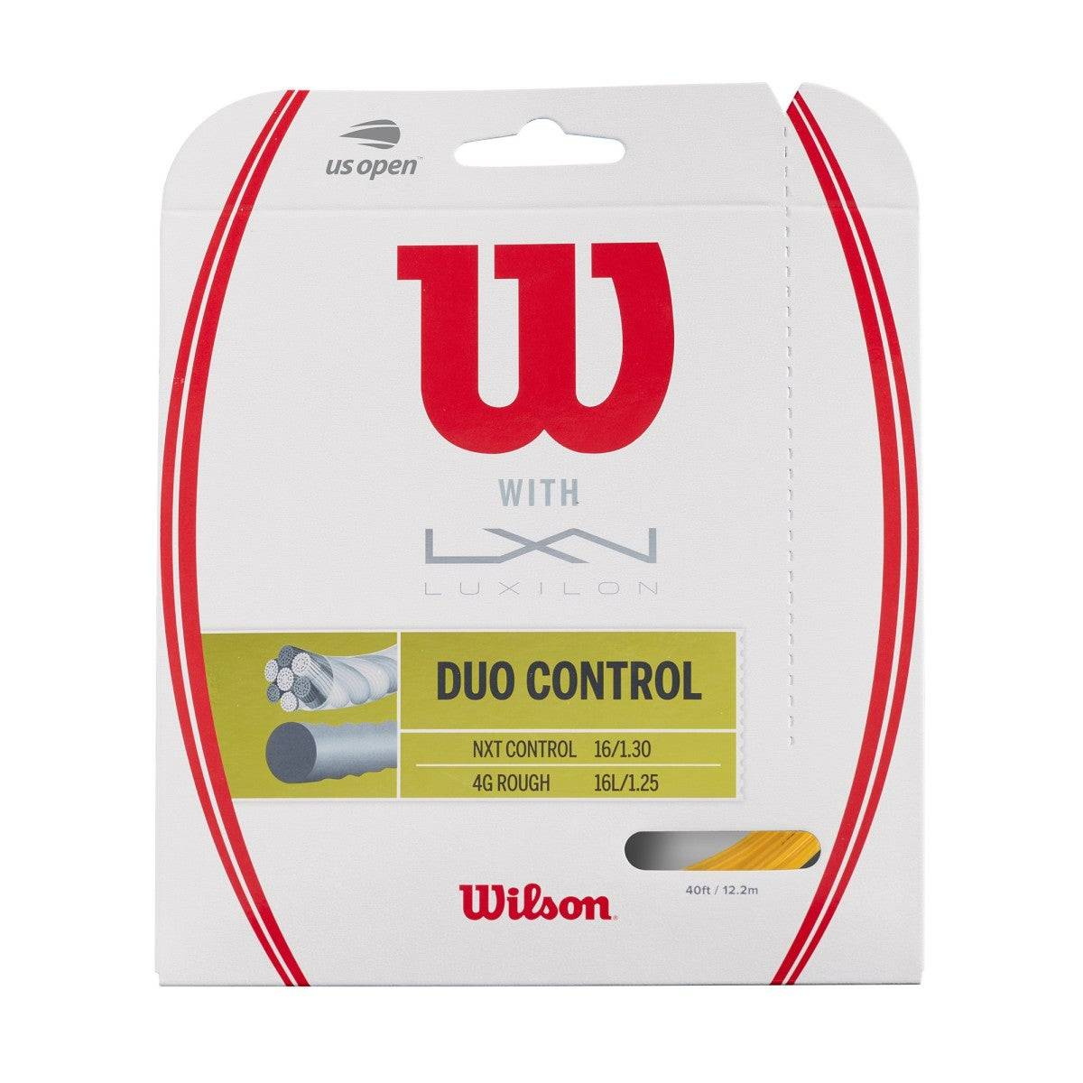 Wilson Duo Control Hybrid Tennis String - Set in Gold  - Unisex - Gold