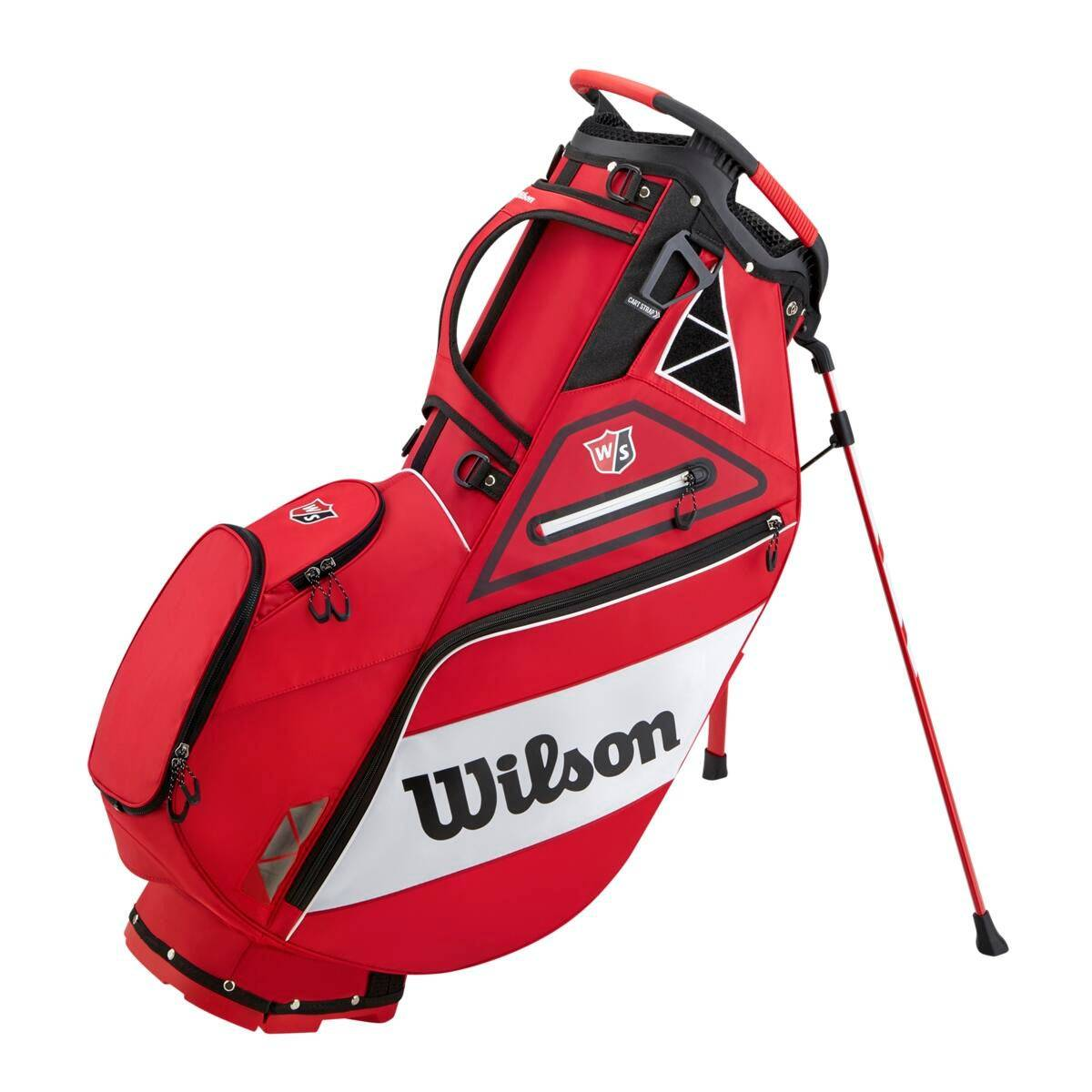 Wilson Exo Stand Bag in White / Red  - Unisex - White/Red