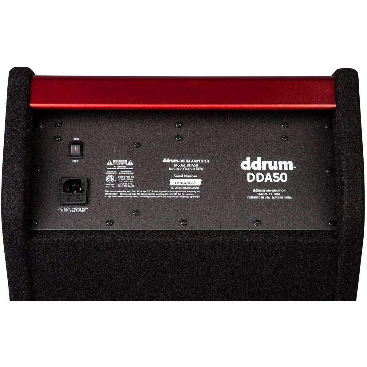 DDRUM DDA50 50 Watt Electronic Percussion Amplifier, Black DDA50