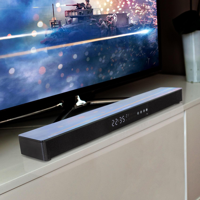 Samsung UN55TU7000 55 4K Ultra HD Smart LED TV (2020) with Deco Gear Soundbar Bundle