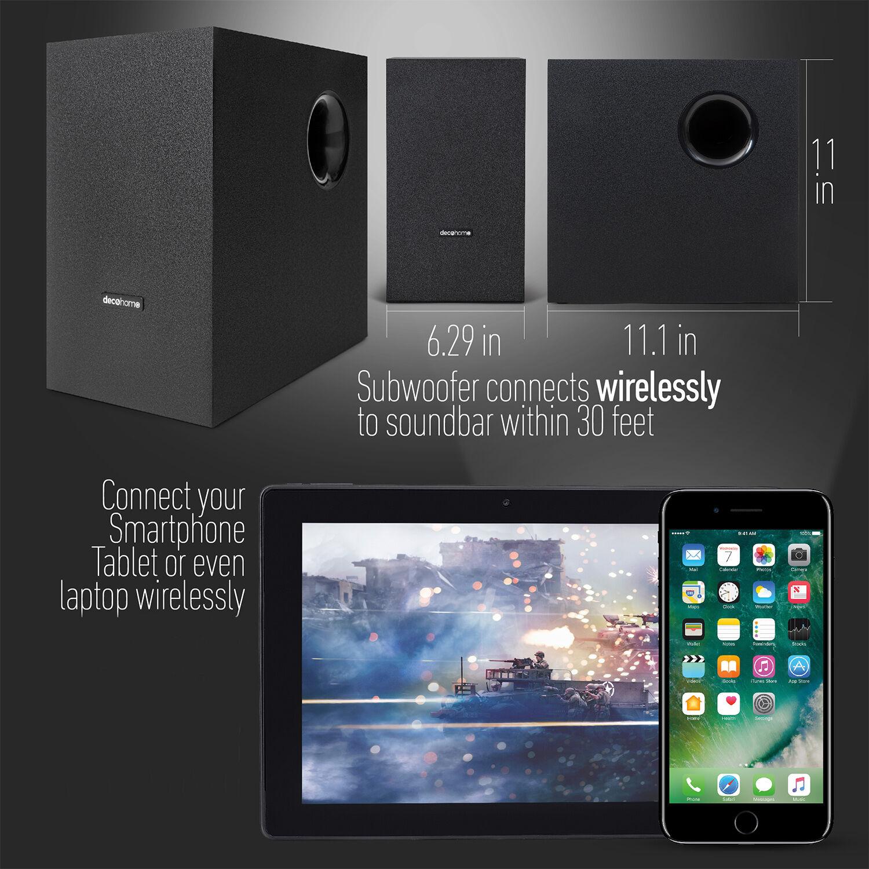 Samsung UN70TU7000 70 4K Ultra HD LED TV (2020) with Deco Gear Home Theater Bundle