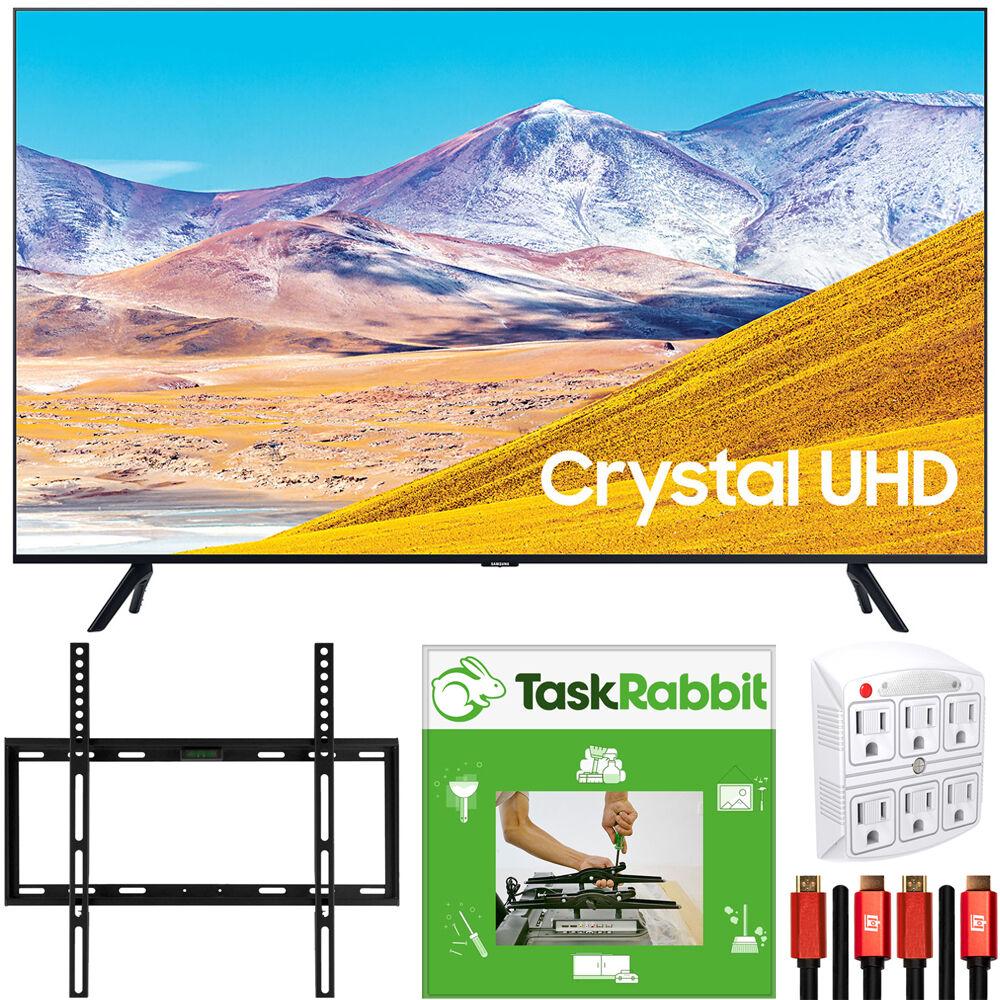 Samsung 55 UN55TU8000 4K UHD Smart LED TV (2020 Model) + TaskRabbit Installation Bundle